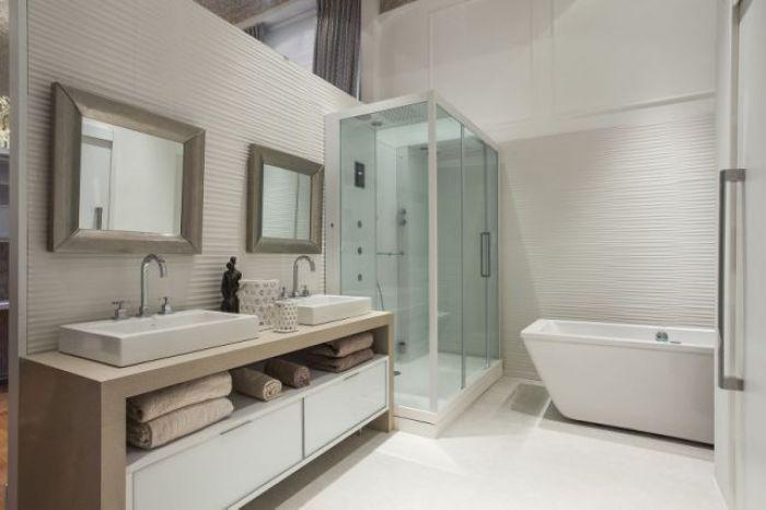Inovação, tecnologia e muito relaxamento para o banho do casal